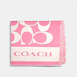 COACH 677 - SIGNATURE BLANKET PINK LEMONADE
