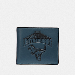 DOUBLE BILLFOLD WALLET WITH SUPER REXY - 67913 - DENIM