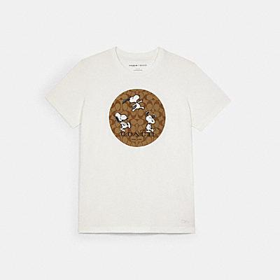 COACH X PEANUTS スヌーピー シグネチャー Tシャツ