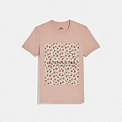 COACH 68013 Mother's Day Floral Print T-shirt BLUSH