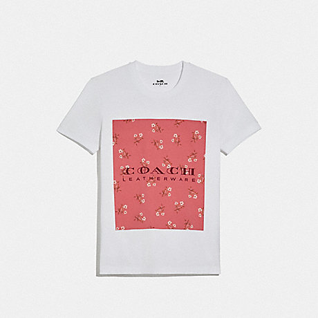 COACH 68013 MOTHER'S DAY FLORAL PRINT T-SHIRT WHITE 1