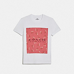 COACH 68013 - MOTHER'S DAY FLORAL PRINT T-SHIRT WHITE 1