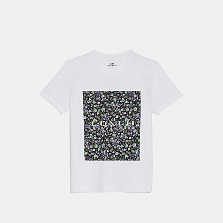 COACH 68013 MOTHER'S DAY FLORAL PRINT T-SHIRT WHITE 2