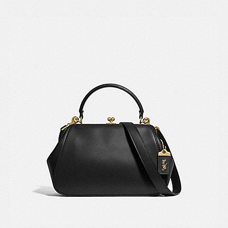 COACH 68136 FRAME BAG BLACK/BRASS