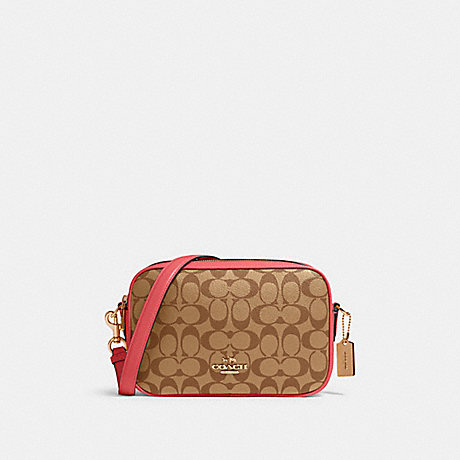 COACH 68168 JES CROSSBODY IN SIGNATURE CANVAS IM/KHAKI-POPPY