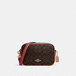 COACH 68168 - JES CROSSBODY IN SIGNATURE CANVAS IM/BROWN 1941 RED