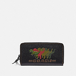 COACH 68254 - ACCORDION WALLET WITH REXY BLACK