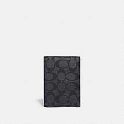 BIFOLD CARD CASE IN SIGNATURE CANVAS - 68303 - CHARCOAL