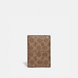 BIFOLD CARD CASE IN SIGNATURE CANVAS - 68303 - KHAKI
