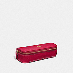 COACH 68324 Jewelry Roll BRIGHT CHERRY/GOLD