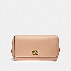 COACH 68328 - SMALL ALEXA TURNLOCK CLUTCH BRASS/BEECHWOOD