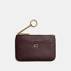 COACH 68334 - COIN CASE B4/OXBLOOD