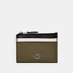 COACH 6851 - MINI SKINNY ID CASE IN COLORBLOCK QB/KELP MULTI