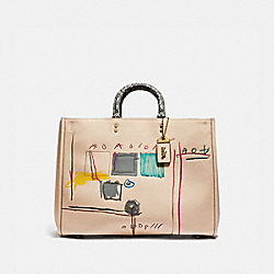 COACH 6877 - COACH X JEAN-MICHEL BASQUIAT ROGUE 39 WITH SNAKESKIN DETAIL B4/IVORY