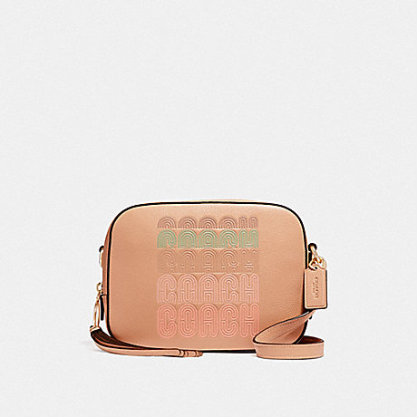 COACH 68945 CAMERA BAG WITH COACH PRINT GD/NUDE-PINK