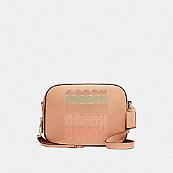 COACH 68945 Camera Bag With Coach Print GD/NUDE PINK