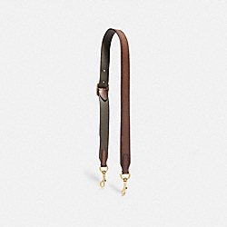 BAG STRAP - OL/SADDLE/PINE - COACH 68978