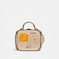 COACH 6897 - COACH X JEAN-MICHEL BASQUIAT SQUARE BAG B4/IVORY
