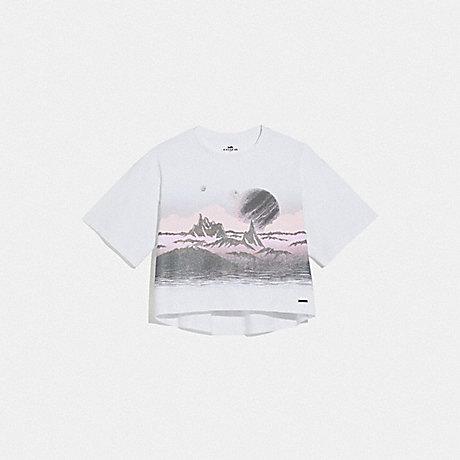 COACH LANDSCAPE T-SHIRT - WHITE - 69006