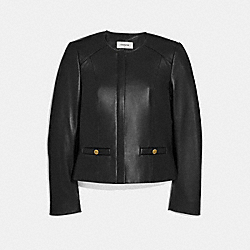 COACH 69019 - TAILORED LEATHER JACKET BLACK