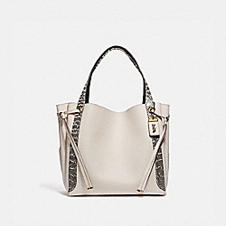 COACH 69074 Harmony Hobo 33 In Colorblock With Snakeskin Detail B4/CHALK