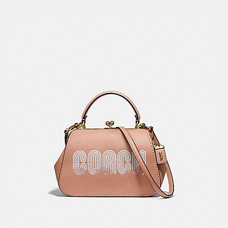 COACH 69113 FRAME BAG 23 WITH COACH PRINT B4/NUDE-PINK