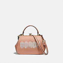 COACH 69113 - FRAME BAG 23 WITH COACH PRINT B4/NUDE PINK