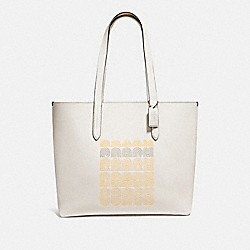 HIGHLINE TOTE WITH COACH PRINT - 69115 - GD/CHALK