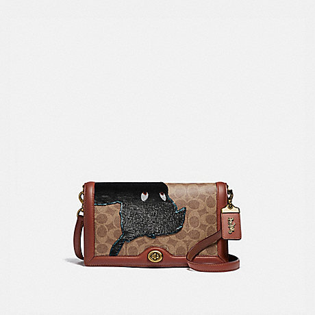 COACH 69139 DISNEY X COACH SIGNATURE RILEY WITH EMBELLISHED PETER PAN B4/TAN-RUST