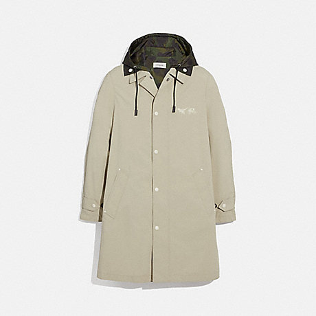 COACH 69160 REXY AND CARRIAGE COAT WITH HOOD STONE