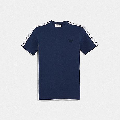 COACH 69175 REXY TAPE T-SHIRT DARK BLUE