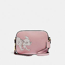DISNEY X COACH CAMERA BAG WITH DALMATIAN - 69178 - GD/BLOSSOM