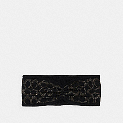 COACH 6918 - SIGNATURE PRINT KNIT HEADBAND BLACK
