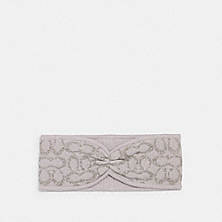 COACH 6918 - SIGNATURE PRINT KNIT HEADBAND GREY