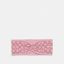 COACH 6918 - SIGNATURE PRINT KNIT HEADBAND PINK