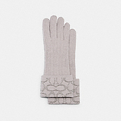 COACH 6919 - SIGNATURE KNIT TECH GLOVES GREY