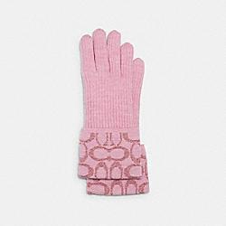 COACH 6919 Signature Knit Tech Gloves PINK