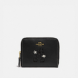 COACH 69204 - DISNEY X COACH SMALL ZIP AROUND WALLET WITH DISNEY MOTIF B4/BLACK