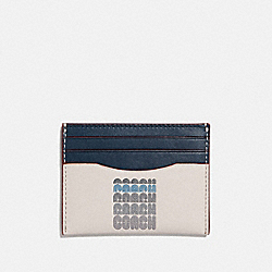 CARD CASE WITH COACH PRINT - 69219 - CHALK