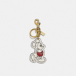 COACH 69261 - DISNEY X COACH POSING MICKEY MOUSE BAG CHARM BRASS/CHALK