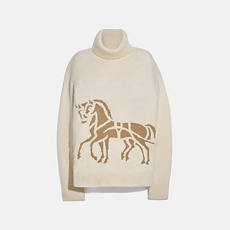 COACH 6927 HORSE AND CARRIAGE SWEATER CREAM