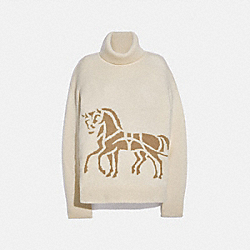 COACH 6927 - HORSE AND CARRIAGE SWEATER CREAM