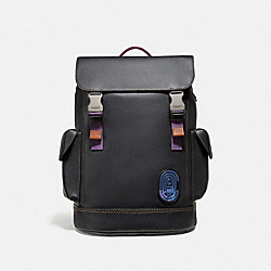 COACH 69299 Rivington Backpack With Coach Patch BLACK/BLACK/BLACK COPPER