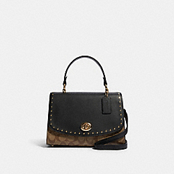 COACH 692 - TILLY TOP HANDLE IN SIGNATURE CANVAS WITH RIVETS IM/KHAKI MULTI