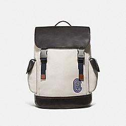 COACH 69300 Rivington Backpack With Coach Patch CHALK/BLACK/BLACK COPPER