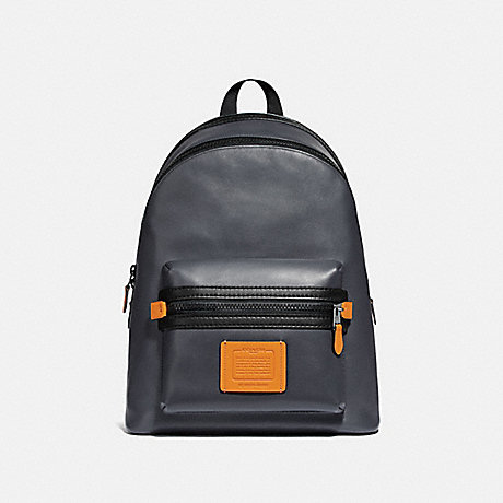 COACH 69313 ACADEMY BACKPACK IN COLORBLOCK MIDNIGHT NAVY/BLACK COPPER