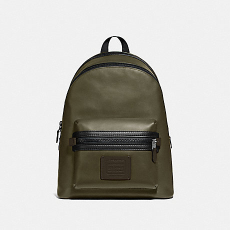 COACH 69313 ACADEMY BACKPACK IN COLORBLOCK LIGHT-OLIVE/BLACK-COPPER