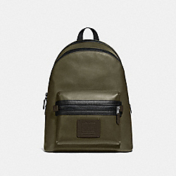 COACH 69313 Academy Backpack In Colorblock LIGHT OLIVE/BLACK COPPER