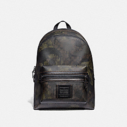 COACH 69315 Academy Backpack In Signature Canvas With Wild Beast Print GREEN WILD BEAST SIGNATURE/BLACK COPPER