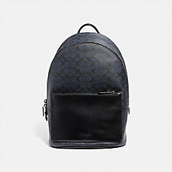 COACH 69352 Metropolitan Soft Backpack In Signature Canvas MIDNIGHT NAVY/BLACK ANTIQUE NICKEL